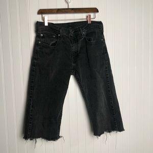 Levi's 559 DYI Cropped Capri Black Jeans